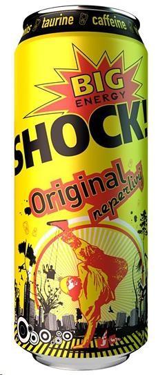 Akce APC - SHOCK energy drink plech 0,5 l