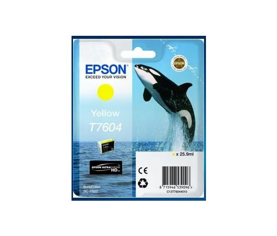 EPSON ink bar ULTRACHROME HD - Yellow - T7604