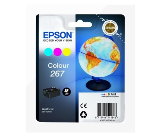 "EPSON ink bar Singlepack ""Globus"" Colour 267 ink cartridge-pro WF-100 (6,7 ml)"