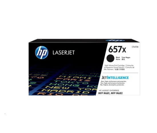 HP 657X High Yield Black Original LaserJet Toner Cartridge (CF470X)