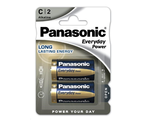 PANASONIC Alkalické baterie Everyday Power  LR14EPS/2BP C 1,5V (Blistr 2ks)