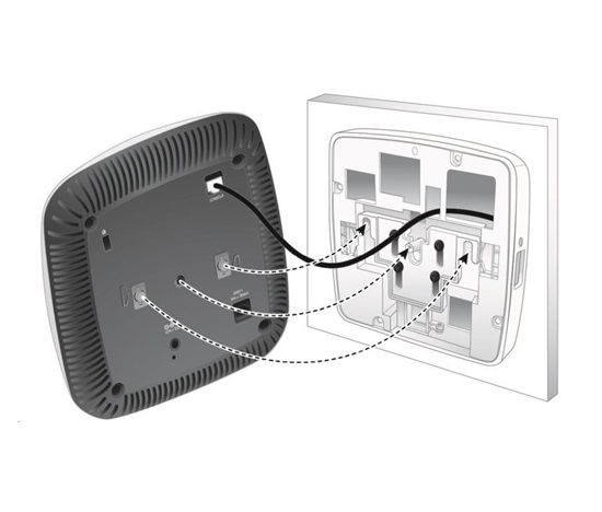 AP-220-MNT-W3 White Low Profile Box Style Secure Large AP Flat Surface Mount Kit